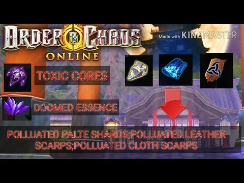 Order and choas online - toxic cores t5 - polluted scarps t6 - doomed essence t7 exchange(UPDATE 37)