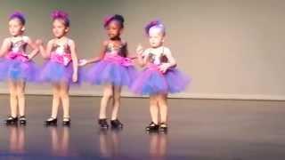 Little Awesome Girl On School Dance