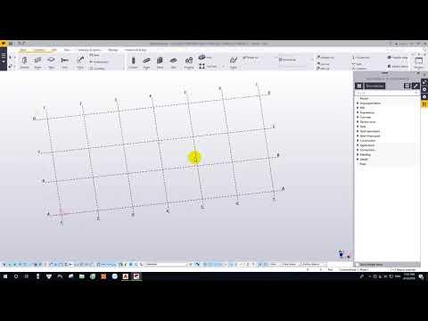 Hướng dẫn Tekla - Bài 1 :Tạo vật liệu và lưới trục | lesson 1-Create marterial and grid