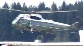 Arlington (WA) United States  city images : President Obama lands at Arlington, WA airport Marine One