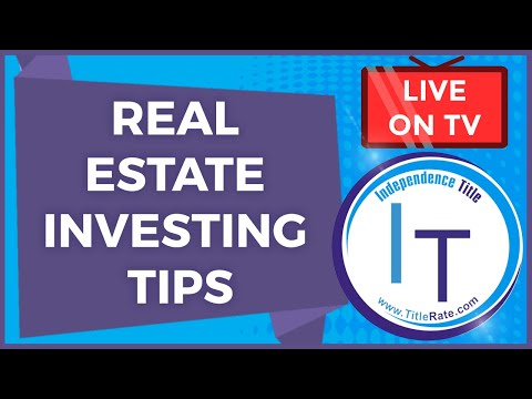 Real Estate Investing Tips   Title Insurance Tips   Investing In Real Estate