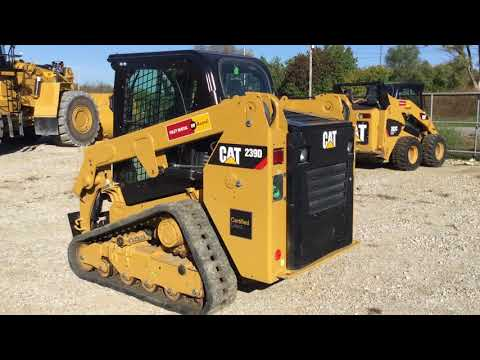 CATERPILLAR MINICARGADORAS 239DSTD1CA equipment video qXwFYRP9IH8