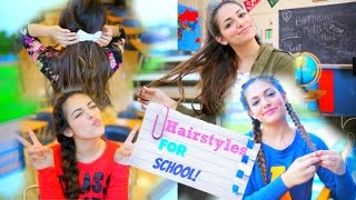 Back To School: 5 Quick Hairstyle Ideas! ♥ NO HEAT - YouTube