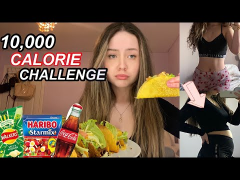 10,000 CALORIE CHALLENGE   girl vs food