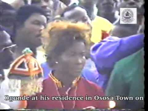 Burial Service Of Chief Hubert Ogunde At His Residence In Ososa Town
