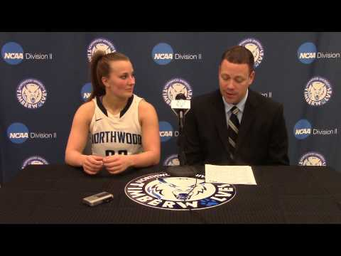 Northwood University Women's Basketball (2/26/15) NU 78, Lake Superior State 73 - Press Conference