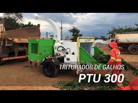 Triturador de Galhos Lippel PTU 300 – Na gestão de resíduos sólidos da poda urbana