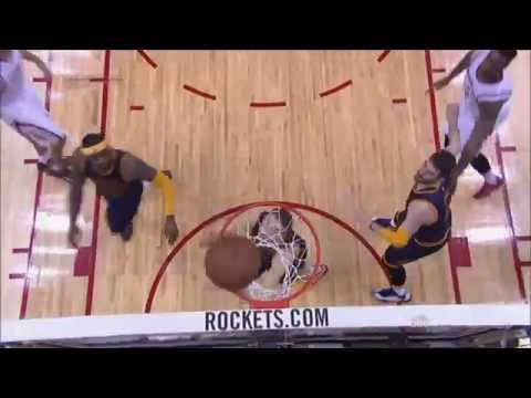 Donatas Motiejunas loses Timofey Mozgov with a ball fake