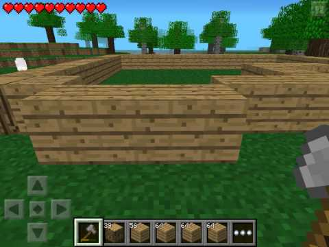 Let's play Minecraft Pocket Edition #3 - Строим дом #1