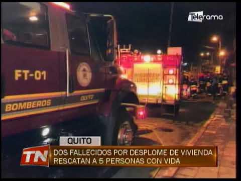 Dos fallecidos por desplome de vivienda rescatan a 5 personas con vida