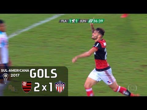 Gols - Flamengo 2 x 1 Junior Barranquilla - Semifinal Sul-Americana 2017 - Globo HD 60 fps