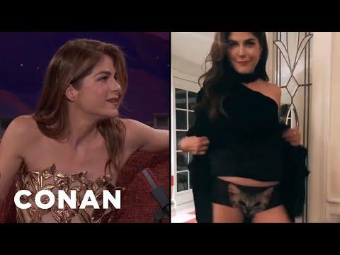 Selma Blair's Flirty Boomerang  - CONAN on TBS