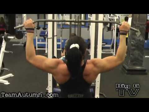 Female Bodybuilder Tatiana Anderson Back Workout Demo