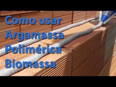 assentamento de tijolos - Vídeo de Demonstração da Aplicação da Biomassa Assentamento de Blocos para Alvenaria de Vedação. Nesse caso a aplicação se dá em alvenaria convencional com b...