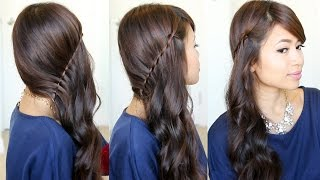 Side Swept Waterfall Twist Hairstyle feat. NuMe Curl Jam - YouTube