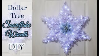 Dollar Tree Snowflake Wreath ❄ DIY 2019