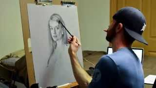 Time Lapse Charcoal Portrait - Speed Painting