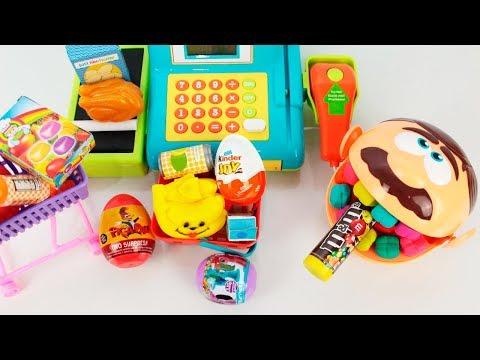 Play doh - Zé Bocão Play-Doh Dentista fazendo compras no Supermercado em portugues clube kids