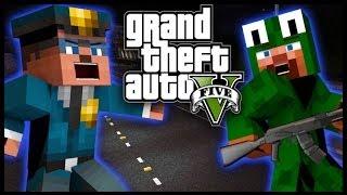 Minecraft - GTA V Mod - Grand Theft Auto 5 - COP WAR!