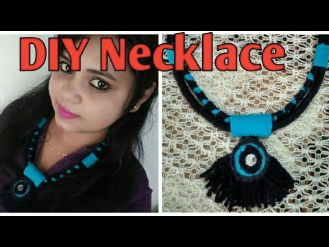 Pompom|navratri|Thread Necklace|fabric Necklace | Boho Necklace | Tribal Necklace | Rope Necklace |