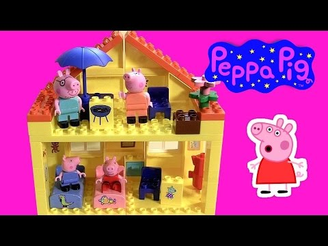 pig - DisneyCollector presents Peppa Pig Blocks Mega House Construction Set. This building toys 681326926962 is simliar to Lego Duplo & MegaBloks. Comes with 107 block pieces to build this set is...
