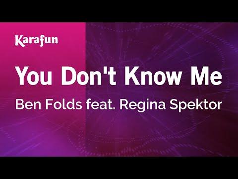 Karaoke You Don't Know Me - Ben Folds *