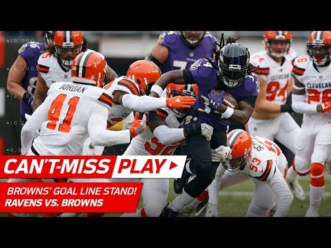 Video: Cleveland's Brick Wall Defense Makes UNREAL Goal Line Stand! | Can't-Miss Play | NFL Wk 15