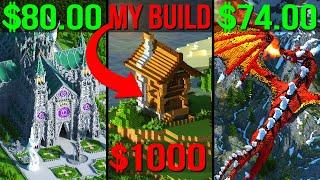I Spent $1000 on FIVER & Got Sent MY OWN MINECRAFT BUILD!