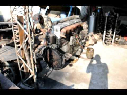 MOTOR ALFA ROMEO FNMD11000 em pleno funcionamento fora do caminhão!