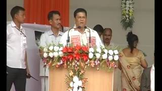 Addressing public gathering on the occasion of inaugurating Majuli as 35th district of Assam