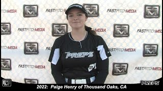2022 Paige Henry Pitcher and Outfield Softball Skills Video - Easton Preps
