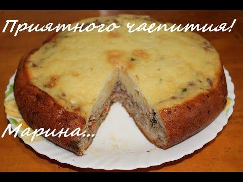 Рецепт мясного пирога с фаршем в мультиварке