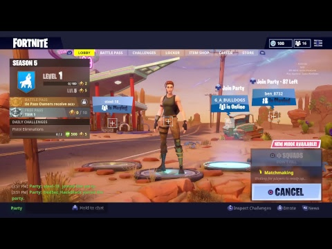 FORTNITE SEASON5 (GRINDING) PLAYSTATION NETWORKING DOWN