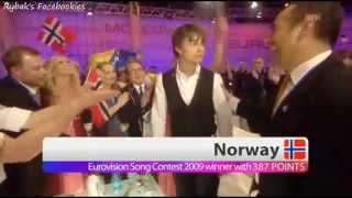 Video Alexander Rybak - winning the ESC final 2009 MP3, 3GP, MP4, WEBM, AVI, FLV September 2018