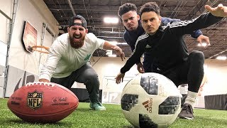 Video Football vs Soccer Trick Shots | Dude Perfect MP3, 3GP, MP4, WEBM, AVI, FLV Desember 2018