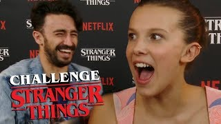 STRANGER THINGS CHALLENGE con MILLIE BOBBY BROWN y NOAH SCHNAPP (ft. Antón Lofer)