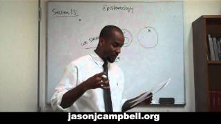 25. Epistemology Lecture Series: Section 1.3