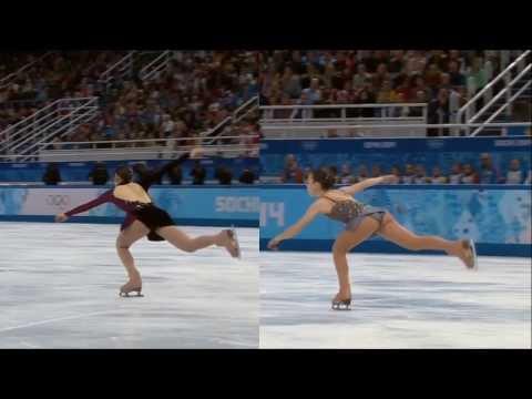 [Triple Flip Jump] Yuna Kim vs Adelina Sotnikova