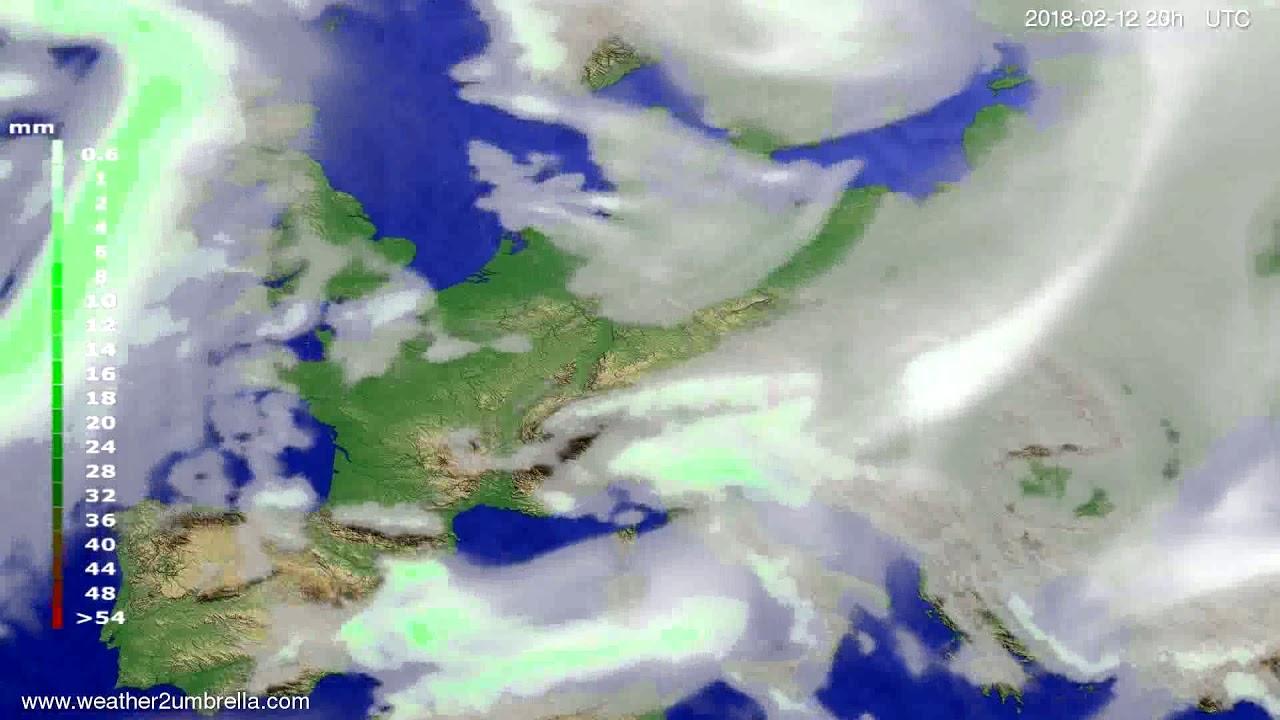 Precipitation forecast Europe 2018-02-10