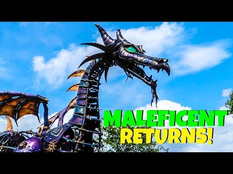 Disney Malfunction Dragon Returns - Maleficent Disney World Parade
