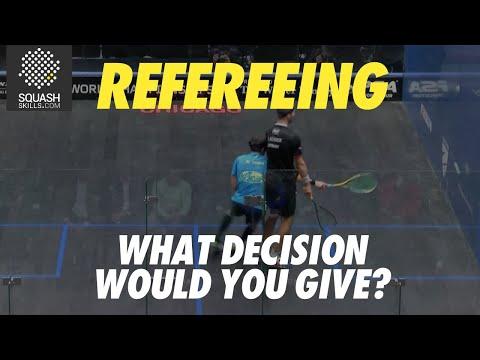 Squash Refereeing: Simon Rösner V Borja Golan -  No let