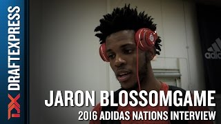 Jaron Blossomgame Interview from 2016 Adidas Nations