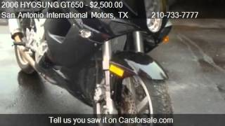 5. 2006 HYOSUNG GT650 Motorcycle - for sale in San Antonio, TX