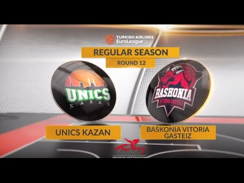 EuroLeague Highlights RS Round 12: Unics Kazan 91-92 Baskonia Vitoria Gasteiz