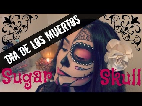 Dia De Los Muertos | Day Of The Dead | Sugar Skull | Halloween Makeup Tutorial | Stephanie Cordero