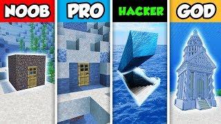 NOOB vs PRO vs HACKER vs GOD : FAMILY WATER SECRET BASE CHALLENGE in Minecraft! (Animation)
