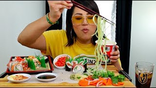 Video SUSHI HOT CHEETOS, RAMEN NOODLES MUKBANG EATING SHOW MP3, 3GP, MP4, WEBM, AVI, FLV November 2018