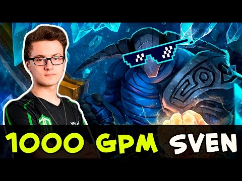 Miracle 1000 GPM Sven 1v5 carries his team (видео)