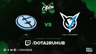 EG vs VGJ.Thunder, PGL Open Bucharest, game 1 [GodHunt, DeadAngel]