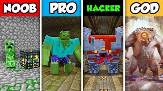 Minecraft NOOB vs. PRO vs. HACKER vs GOD: DUNGEON MOB SLAYER  in Minecraft! (Animation)